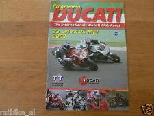2008 DUCATI CLUBRACES CIRCUIT ASSEN PROGRAMMA,DUCATI CLUB NEDERLAND