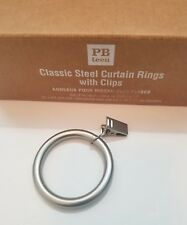 1 Set of 14 Pottery Barn Teen Classic Nickel Steel Rings with clip NIB (14)