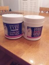 Two containers of Angels' Eyes Gentle Tear 100 Presoaked Textured Stain Wipes