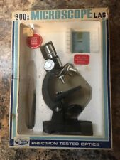 Vintage Precision Tested Optics 300 Power Microscope Lab w/Box~Creative Science