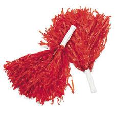Red Pom Poms (Pair) Cheerleader Cheerleading Cheer Pom Pom Womens Girls