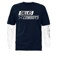 NFL Dallas Cowboys Officially Licensed Men's 3 in 1 T-Shirt Combo Set 2019 Navy