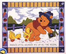 Cross Stitch Kit Disney Winnie the Pooh's Little Helpers in the Garden #1132-35