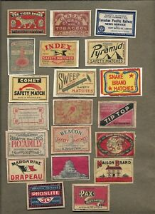 WORLDWIDE MATCHBOX LABELS ON AND OFF PAPER LOT 8