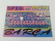 POSTAL FC BARCELONA PLANTILLA TEAM 1994 1995 94-95 SEASON FOOTBALL POSTCARD