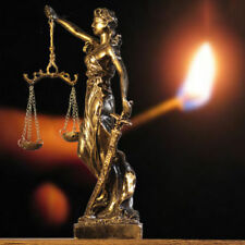 27cm Greek Lady Blind Scale of Justice resin Statue Law Lawyer Gift Unique NEW