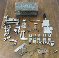 Vintage GREIST Sewing Machine Attachments Hemmer Binder Tucker Ruffler