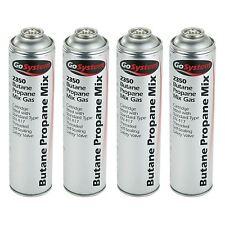 4 x GoSystem 2350 70:30 Butan Propan Mix Gaskartusche EN417 Gewinde 350g