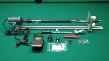 SHARPSHOOTER PORTABLE POOL CUE LATHE TIP TAPER SHAFT WRAP INCLUDES HOW TO MANUAL