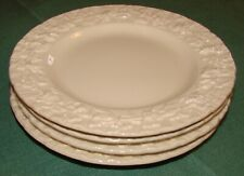 """4 Wedgewood Queensware Bread and Butter Plates - Cream, Embossed, 6 1/4"""""""