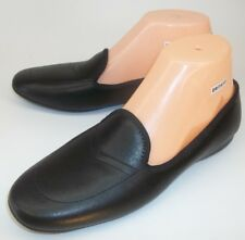 Daniel Green Womens Shoes Slippers US 7 M Black Leather Lounge Slip On Smoking