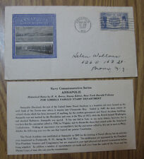 1937 FIRST DAY COVER - U.S SC. #794 - ANNAPOLIS NAVAL ACADEMY