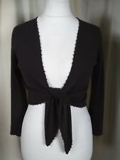 Ochre 100% Cashmere Brown Beaded Cardigan UK10 EXCELLENT CONDITION
