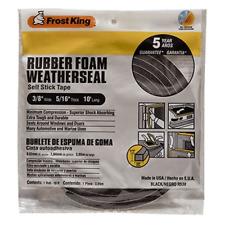 Rubber Foam Weather Stripping Tape 5/16-Inch, Black Door, Window, Car Seal