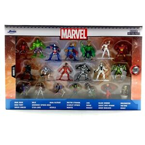 Jada Toys Marvel 20 Pack Die-Cast Collectible Figures Nano Metalfigs Wave 5