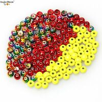 50pcs / lot  Tungsten Fly Tying Beads Fly Fishing Nymph Head Ball Beads