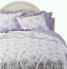 New Target Simply Shabby Chic KING Duvet Cover Set - Purple Lilac Ruffles