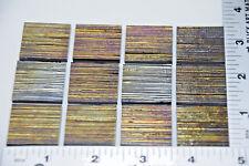 "12 BLACK FIBROID TEXTURED 1"" x 1"" UROBOROS GLASS SQUARES 90 COE FUSIBLE"