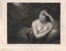 "ORIGINAL ""ART JOURNAL"" PORTRAIT - ""THE NYMPH"" - T.STEPHENSON/T.PHILLIPS(1851)"