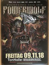Powerwolf 2018 Munich-orig. Concert Poster -- CONCERT AFFICHE a1 NEUF