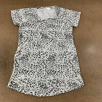 Ideology Women's Size Medium Heather Gray Printed Short Sleeve Athletic Tunic