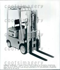 1970 Wire Photo Toyota Forklift