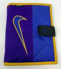 "Vintage 90s Nike Mead Day Planner Organizer Binder 7.5"" x 6"" Purple Gold Swoosh"