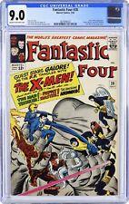Fantastic Four 28 CGC 9.0 X-men, Puppet Master &  Mad Thinker 3829098002