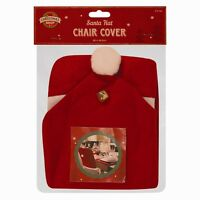 SANTA HAT DINING CHAIR COVERS CHRISTMAS PARTY DINNER TABLE RED DECORATION GIFT