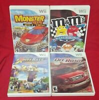 Nintendo Wii Wii U Game Lot Monster Trucks 4x4 M&M's Kart Ford Racing Excitebots