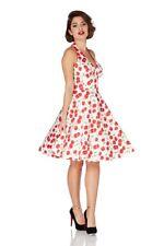 Fruity Cherry Retro 60's Halterneck Flare Swing Rockabilly Summer Dress