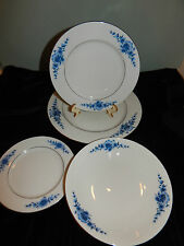 VINTAGE SET OF 4 DANISH BLUE WHITE FLORAL ESCHENBACH BAVARIA GERMANY CHINA SET