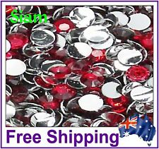 Rhinestones Resin Flat Back ~ 4mm ~ Siam ~ 500 Pack By Gypsy Bling ~ Free Post