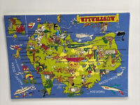 Vintage Jigsaw Puzzle Postcard Australia Map Unsent Sealed