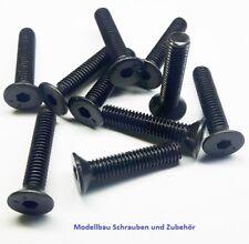 50 Stück Senkkopfschraube M4x10mm Stahl hochfest 10.9 schwarz DIN7991
