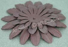 """9 x """"DUSTY MAUVE"""" Paper Flower Petals by Green Tara -3 Sizes- Scrapbooking Cards"""