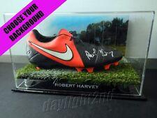 ✺Signed✺ ROBERT HARVEY Football Boot PROOF COA St Kilda Saints 2017 Guernsey