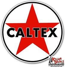 "12"" CALTEX TEXACO GASOLINE GAS PUMP OIL TANK DECAL"