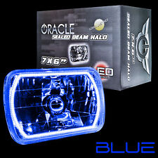 """ORACLE 7""""x6"""" Sealed Beam Single Headlight + ORACLE Pre-Installed Blue SMD Halo"""