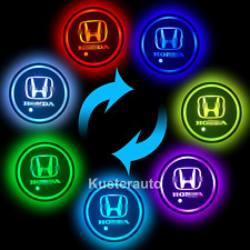 2PCS LED Car Cup Holder Pad Mat For HONDA Auto Atmosphere Lights Colorful