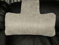 Silver Grey Chenille Hanging Armchair Sofa Headrest Bolster Cushion & inner pad