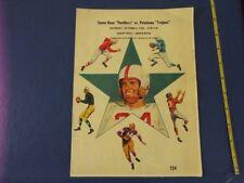 1956 Santa Rosa Panthers v Petaluma Trojans CA High School Football Prog Coke Ad