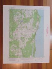 Harrisville Michigan 1961 Original Vintage USGS Topo Map