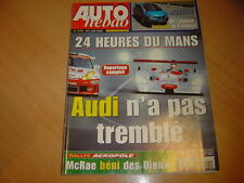 Auto hebdo N°1295 Avantime V6.24 heure du Mans.Acropole
