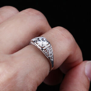 SOLID 14K WHITE GOLD PRONG AAA GRADED CZ SEMI-MOUNT ENGAGEMENT WEDDING RING