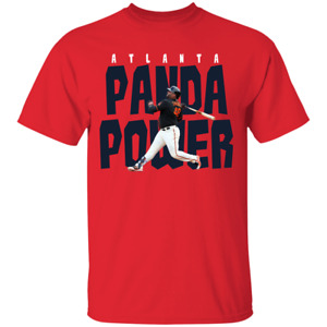 Men's Panda Power Pablo Sandoval #48 Atlanta Braves Logo 2021 Red T-shirt S-4XL