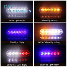 6 LED Light Bar Flash Emergency Vehicle Warning Strobe Flashing Yellow US