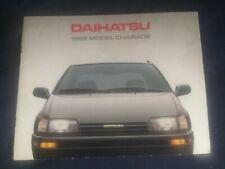 1988 Daihatsu Charade USA Market Color Brochure Catalog Prospekt