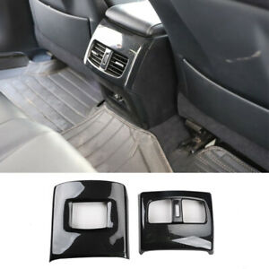 For Lexus ES300H 350 2012-2017 Carbon Fiber rear vent Anti-kick panel trim 2pcs