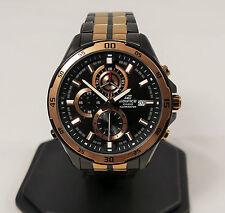 Casio Edifice Nero e Oro Rosa Acciaio Inox EFR-547BKG -1 AVUEF Men's Watch